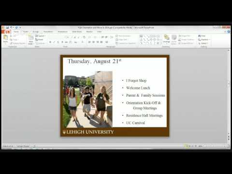 Lehigh Orientation  and Move In Q & A