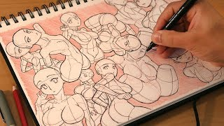 Body Torso Practice & Who are the best Monster Waifus? - Draw With Mikey 129