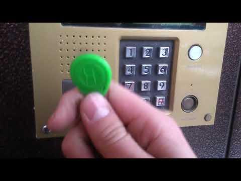 Как записать ключ и стереть ключ на домофоне VIZIT БУД-432
