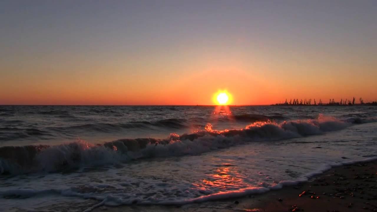 Закат на море (HD) - YouTube