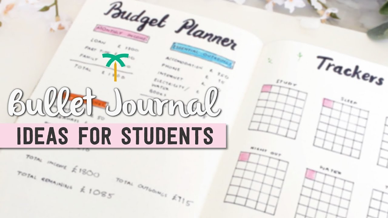Bullet Journal Ideas for Students   Stationery Island - YouTube