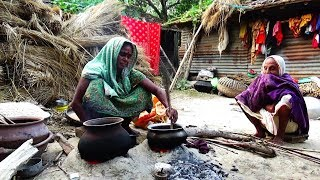 Rural women making Homemade Puffed Rice  ll Indian Village Food