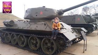 Отмечаем 23 февраля, Посетили Выставку Танков! Танк Т-34, Противотанковые пушки.