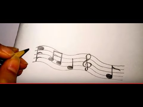 How to draw music notes, easy way