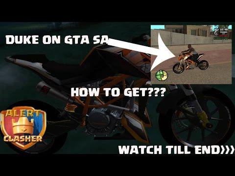 How To  Get KTM DUKE 125 On GTA San Andrese