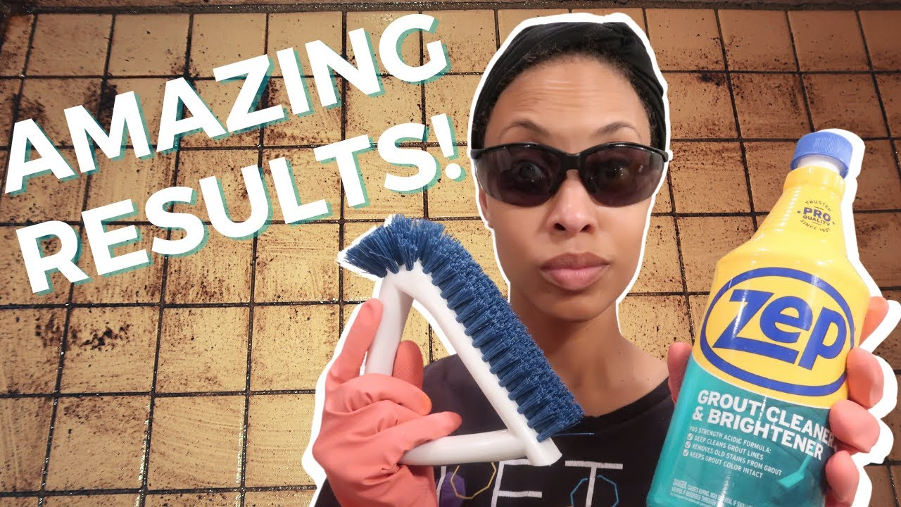Download How to CLEAN GROUT   Clean With Me   AMAZING Results on DISGUSTING Shower Grout with Zep!