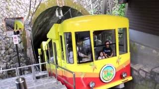 【ゲーブルカー】高尾山のケーブルカー最前列からの眺め(高尾登山電鉄)