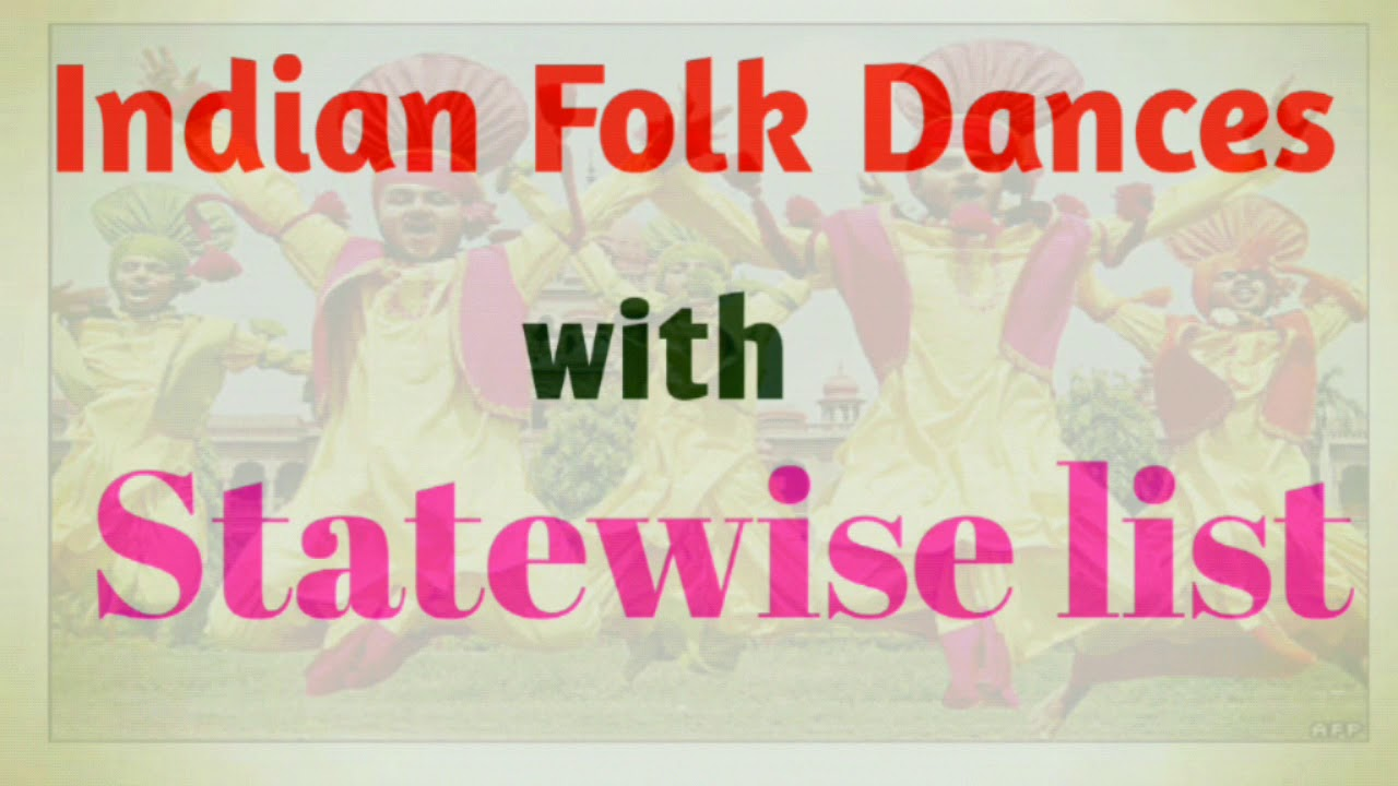 Indian Folk Dances with statewise List | GK for SSC,RRB,IBPS,SBI,TELANGANA  EXAMS