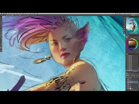 Magic: The Gathering artist paints stunning character art
