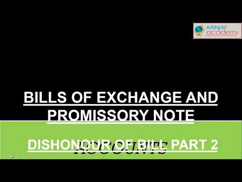 Bill retained till maturity - Bills of exchange and promissory note(part - 2) - Accounts