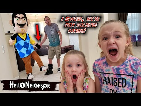 Hello Neighbor In Real Life Statues! New Mattel Toy Scavenger Hunt!!