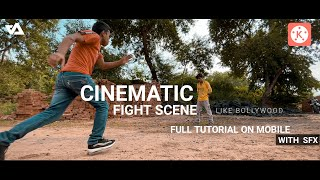 how to shoot and edit fight scene on mobile 🔥 kinemaster cinematic fight editing screenshot 5