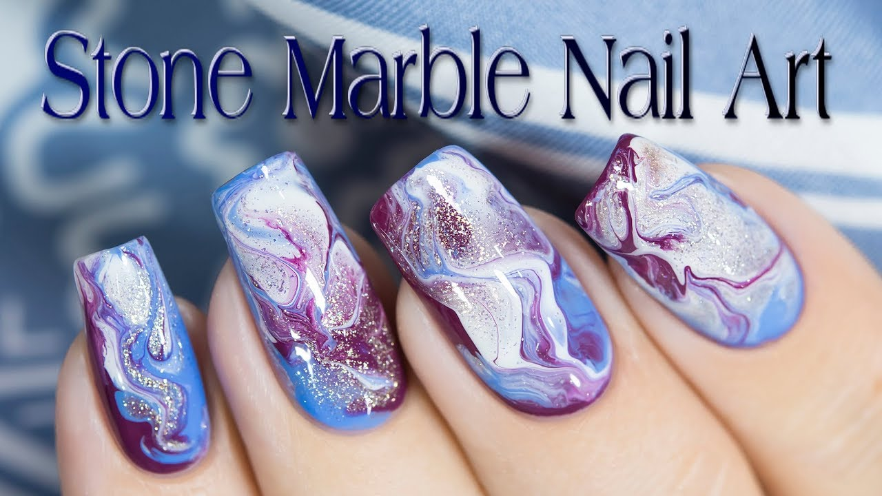 Stone Marble Nail Art Youtube