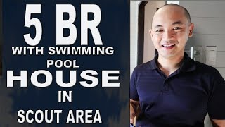 ID#844 House and Lot for Sale with Swimming pool in Scout Model unit