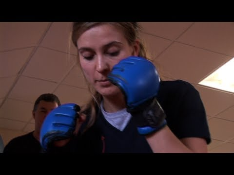 Charlotte Salt trains in mixed martial arts  Casualty  BBC One
