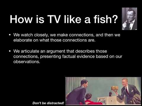 Look At Your Fish: A Lesson In Textual Analysis