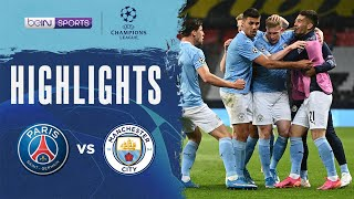PSG 1-2 Manchester City   Champions League 20/21 Match Highlights