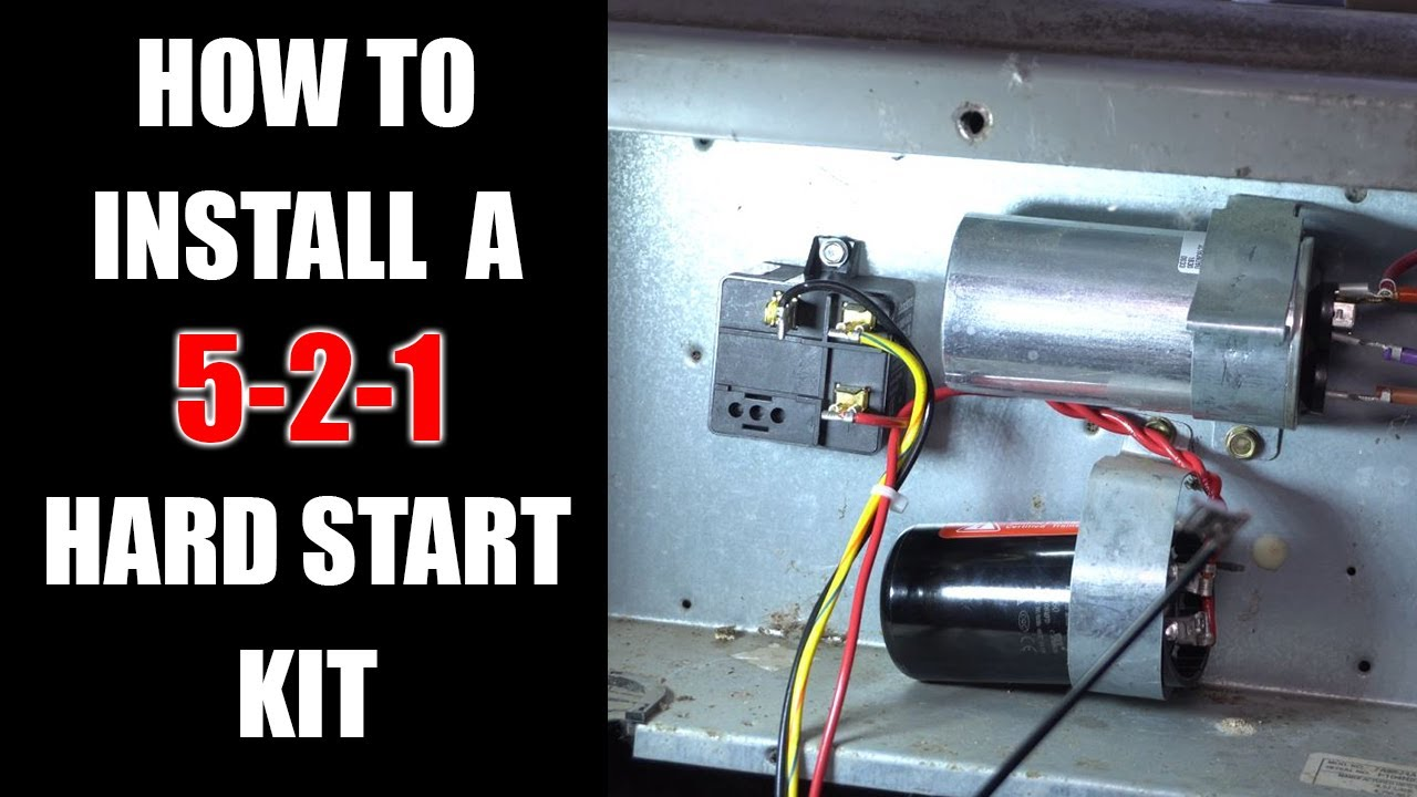 How To Install a 3 Wire 521 Hard Start Kit - YouTube | Hvac Hard Start Kit Wiring Diagram |  | YouTube