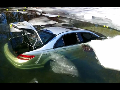 Mercedes Benz Falls Through The Ice On Lake Minnetonka