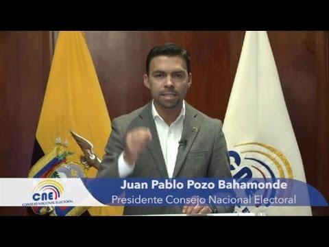 Consejo electoral confirma que habrá segunda vuelta en Ecuador