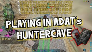 |PLAYING IN ADAT's HUNTERCAVE| Ark Official PvP|