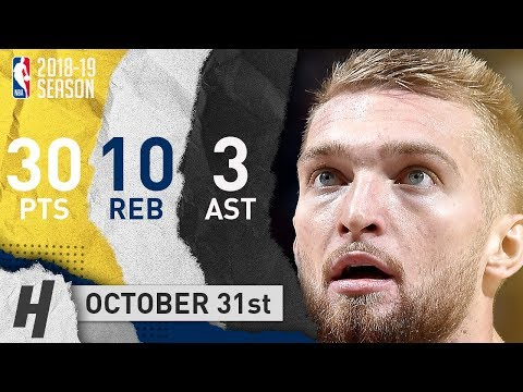 Domantas Sabonis Full Highlights Pacers vs Knicks 2018.10.31 - 30 Pts, 3 Ast, 10 Rebounds!