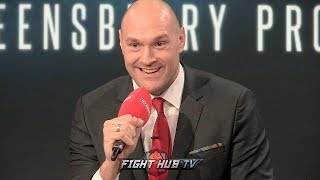 TYSON FURY ANNOUNCES HE HAS SIGNED WITH TOP RANK & ESPN ! - FULL SHOCK ANNOUNCEMENT VIDEO