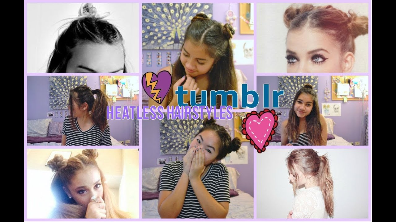 tumblr inspired heatless hairstyles! ♡ - youtube