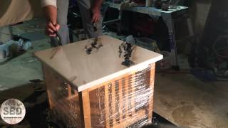 Epoxy White Marble Table | Stone By Design