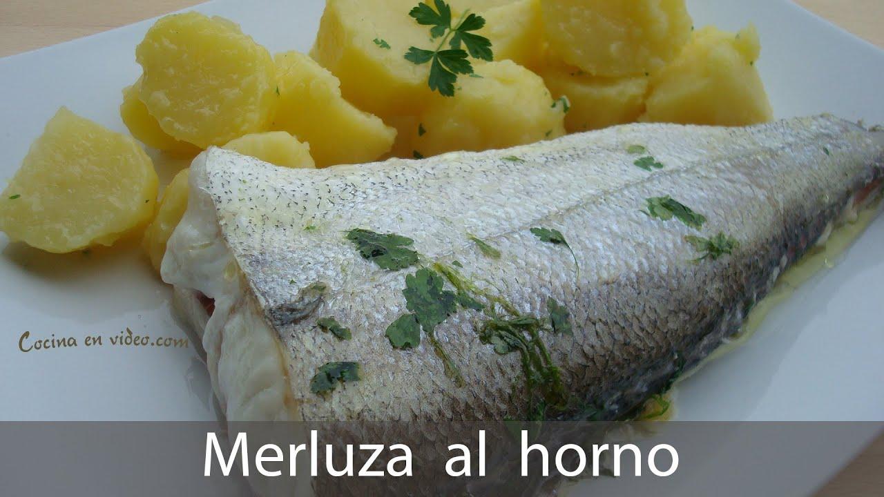 Merluza al horno f cil rapida y sabrosa doble receta for Merluza al horno facil