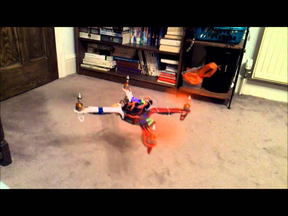Multiwii quadcopter using arduino nano gy take off