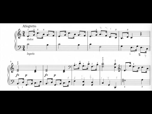 M. Clementi: Sonatina Op. 36 N° 2 - Secondo Tempo: Allegretto. 2/3