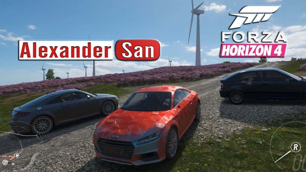 Новые Легковые Автомобили Game Cartoons Horizon Forza | смотреть видео гонки на спортивных мотоцикла