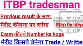 ITBP tradesman ITBP trade test result merit Kitna number pr Banega cut off Kay hoga