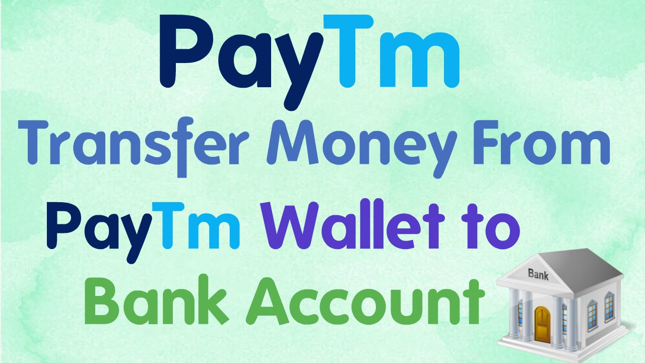 Hindi/Urdu] How to Transfer Money From Paytm wallet to Bank Account ...