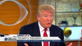 Дональд Трамп: Зачем мы поддерживаем оппозицию в Сирии? Предвыборное интервью. Русский перевод.
