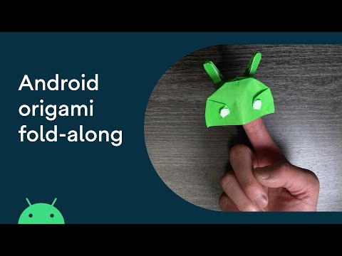 Android origami fold-along