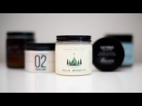The Difference between Pomades, Clays, Creams and Waxes