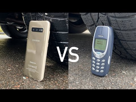 Samsung Galaxy S10 vs Nokia 3310 vs CAR