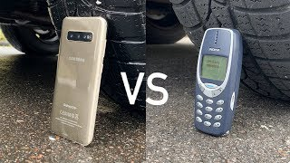 Samsung Galaxy S10 vs Nokia 3310 vs CAR