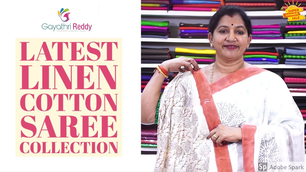 Latest Linen Cotton Saree Collection Episode 106 Gayathrireddy Sarees Designer Linensaree Cottonphone No 99666 00555 Or 9246 44 33 66 Gayathri Reddy Designer Studio Is One Stop Solution For Designer Wears Traditional Sarees Exclusive Lehangas