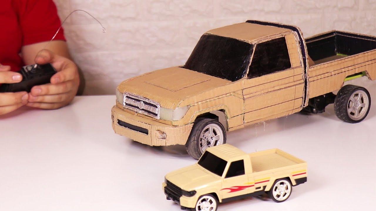 صنع شاص من الكرتون في المنزل ___  RC Land Cruiser Pickup From Cardboard