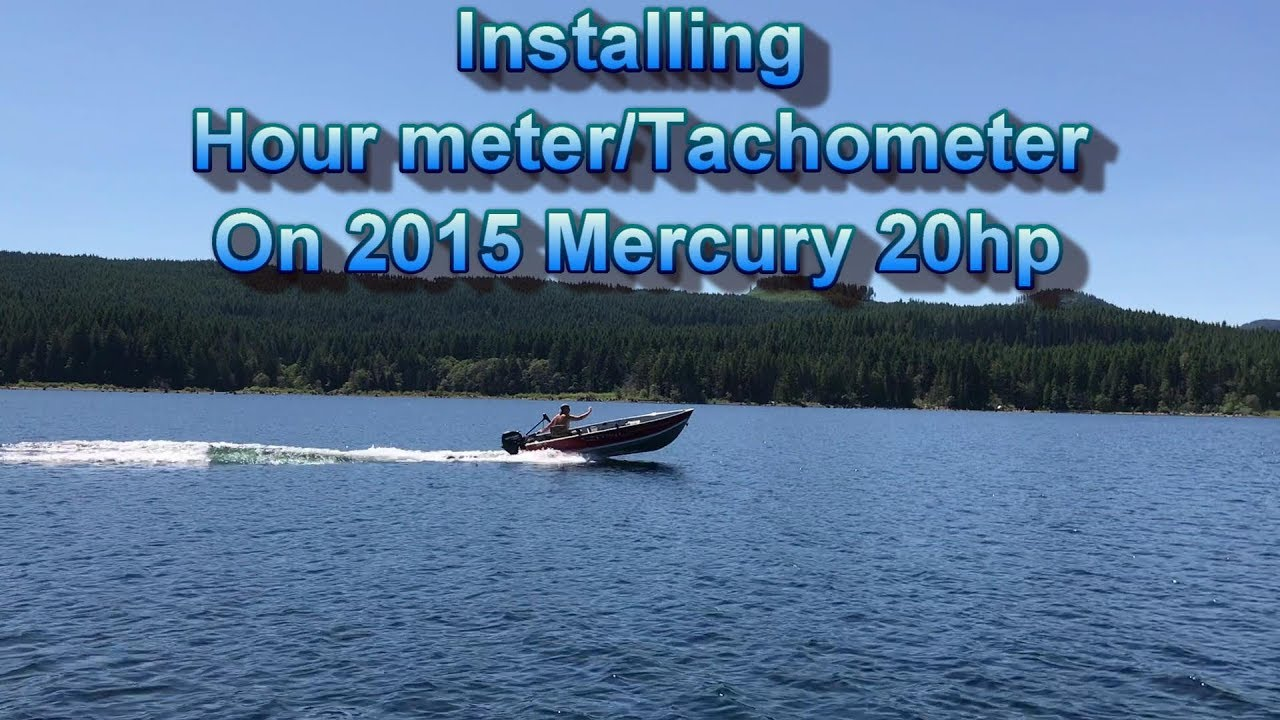 medium resolution of installing an hour meter on my 2015 mercury 20hp 4 stroke outboard
