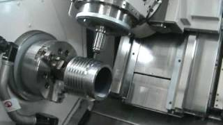 Okuma Multus B300W Turn Mill 7 axis CNC milling threads
