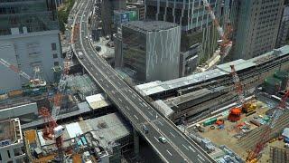 移設工事が完了したJR渋谷駅埼京線ホーム(2020年6月7日)