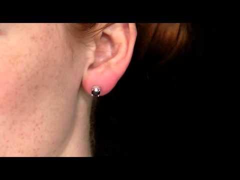Solitaire Stud Black Diamond Earrings 1 50 Carat Ctw In 10k White Gold Myjewelrybox