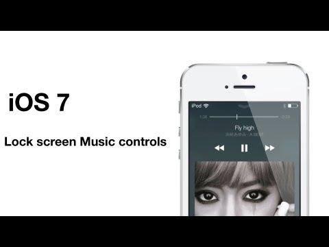 iOS 7: Lock screen music controls