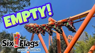 Six Flags Magic Mountain, EMPTY! 😱| Six Flags Update (2019)