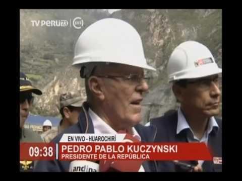 Jefe de Estado puso en funcionamiento túnel Chacahuaro 2 en Carretera Central