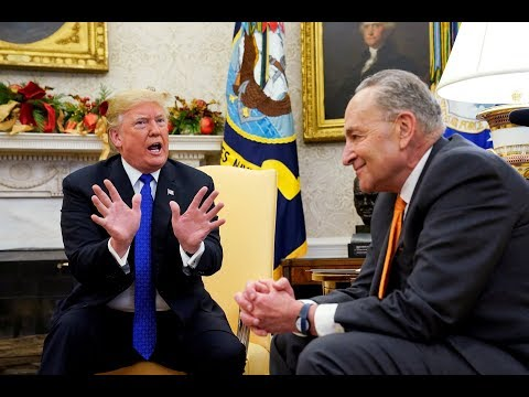 Trump, Democrats clash over border wall in tense Oval Office meeting